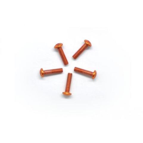 ARROWMAX Alu Screw Allen Roundhead M3X12 Orange (7075) (5)(AM-14RH3012-O)