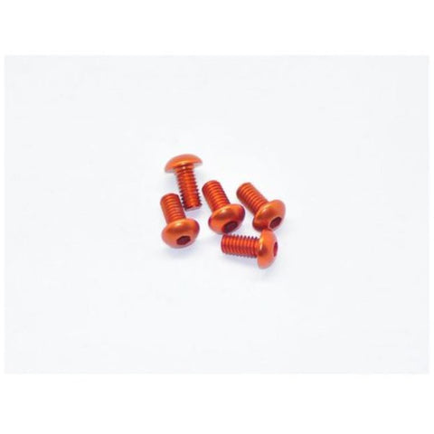 ARROWMAX Alu Screw Allen Roundhead M4X8 Orange (7075) (5)(AM-14RH4008-O)