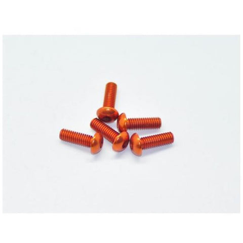 ARROWMAX Alu Screw Allen Roundhead M4X12 Orange (7075) (5)(AM-14RH4012-O)