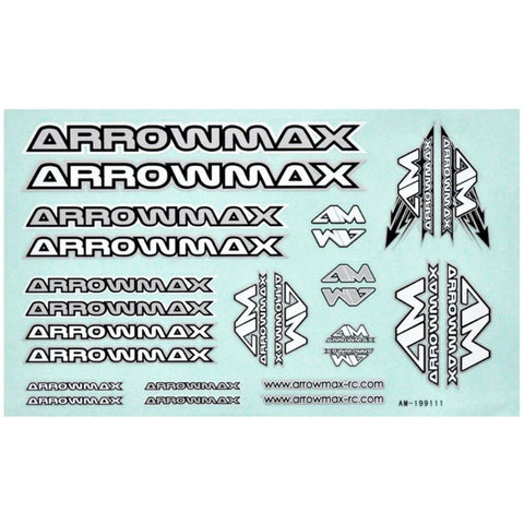 Image of ARROWMAX AM Decal ( 14 X 21 CM) Silver(AM-199111)