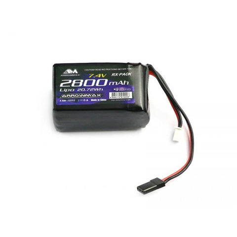 ARROWMAX AM Lipo 2800mAh 2S TX/RX 7.4V Hump Pack (AM-700913