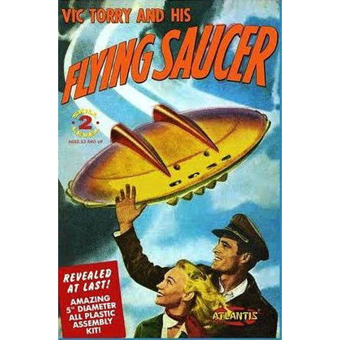 "AMC 5"" Vic Torry and his Flying Saucer w/Light Plastic"