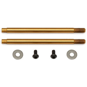 ASSOCIATED 3x27.5 mm Shock Shafts (V2), TiN for B6.1,B6.1D,