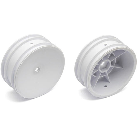 ASSOCIATED 2WD Front Wheels, 2.2 in, 12 mm Hex, white for B