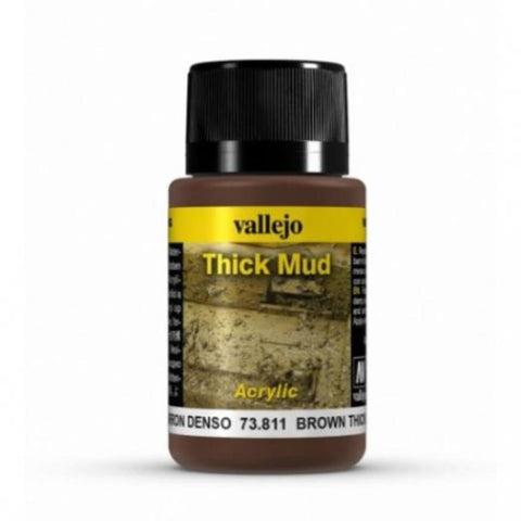 VALLEJO Weathering Effects Brown Thick Mud 40ml (AV73811)