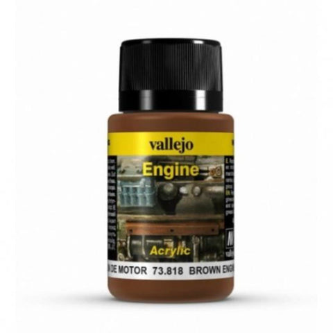 VALLEJO Weathering Effects Brown Engine Soot 40ml (AV73818)