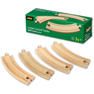 BRIO - Large Curved Tracks 4 pieces (B33342)