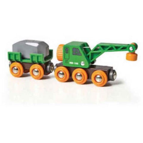 BRIO Crane Wagon & Vehicle (B33698)