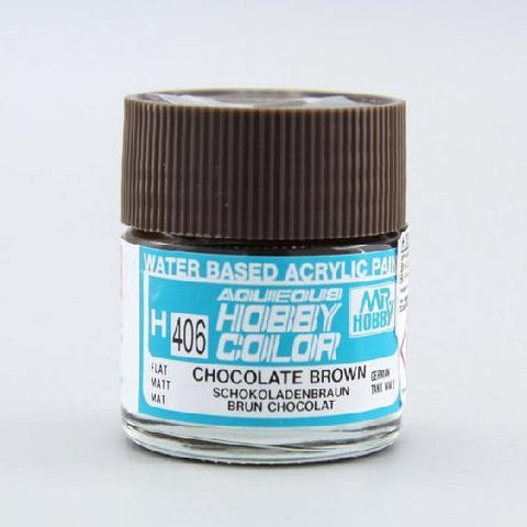MR HOBBY Aqueous Flat WWII Chocolate Brown 10ml