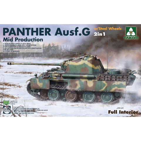 TAKOM 2120 1/35 WWII German Panther Ausf.G Mid production w
