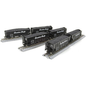 BROADWAY LIMITED 3-Bay Hopper, CP, BROADWAY LIMITEDack w/ White Lettering.