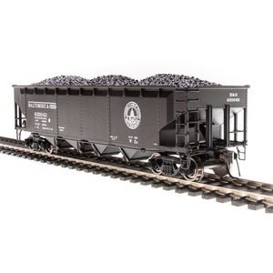 BROADWAY LIMITED HO ARA 70-ton 4-Bay Hopper, B&O W2b, HO