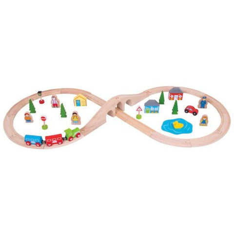 BigjigsFigure of Eight Train Set - 40pcs