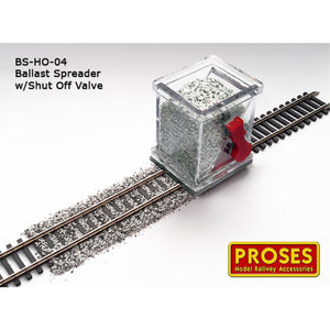 Proses HO/OO Scale Ballast Spreader w/Shut Off Valve