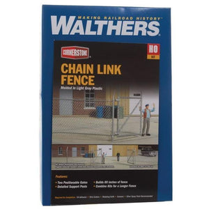 "WALTHERS Chain Link Fence Kit 80"" (933-3125)"