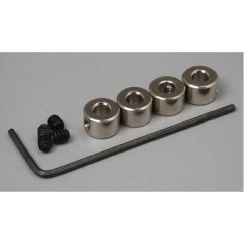 DUBRO 138 DURA-COLLARS 3/32in (4 PCS PER PACK) - Hearns Hobbies Melbourne - Dubro
