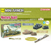 DRAGON 1/144 Morser Karl mit Munitionsschlepper auf Panzer IV Plastic Model Kit