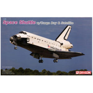 DRAGON 1/144 Space Shuttle w/Cargo Bay and Satellite (DR 11004)