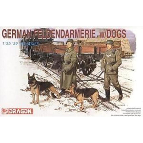 DRAGON 1/35 German Feldendarmerie w/Dogs (DR 6098)