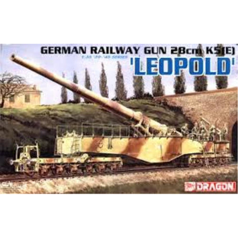 "DRAGON 1/35 German Railway Gun 28cm K5E """"Leopold"""" (DR 6200)"