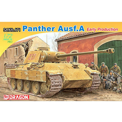 DRAGON 1/72 Panther Ausf.A Tank Early Production (DR 7499)