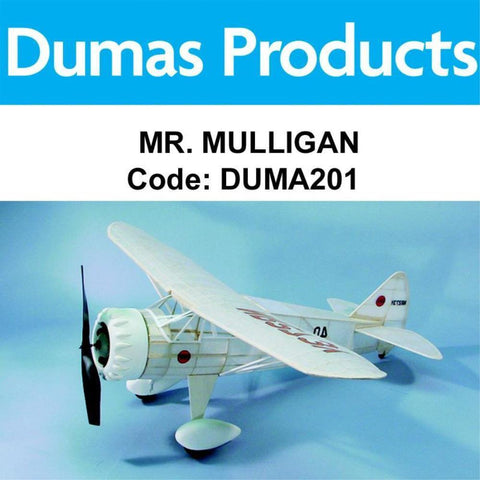 DUMAS 201 MR. MULLIGAN WALNUT SCALE 17.5 INCH WINGSPAN PUBBER POWERED - Hearns Hobbies Melbourne - Dumas