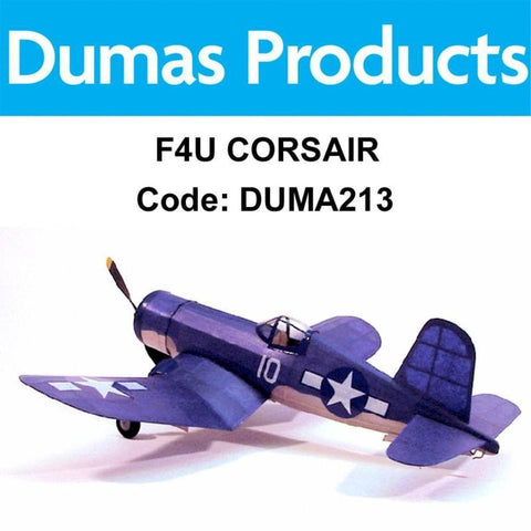 DUMAS 213 F4U CORSAIR WALNUT SCALE 17.5 INCH WINGSPAN PUBBER POWERED - Hearns Hobbies Melbourne - Dumas