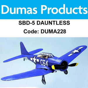 DUMAS 228 SBD-5 DAUNTLES WALNUT SCALE 18 INCH WINGSPAN PUBBER POWERED - Hearns Hobbies Melbourne - Dumas