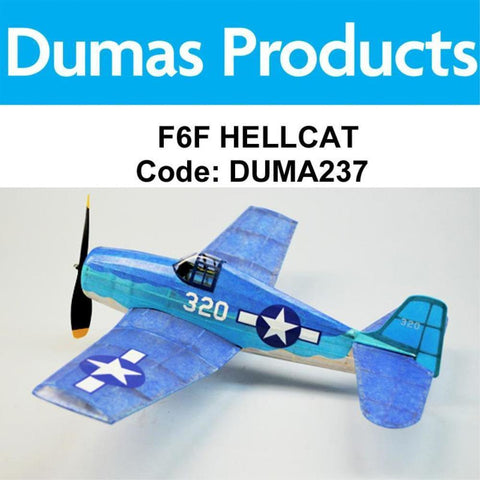 DUMAS 237 F6F HELLCAT  WALNUT SCALE 18 INCH WINGSPAN PUBBER POWERED - Hearns Hobbies Melbourne - Dumas