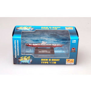 EASY MODEL 1/700 Submarine - DKM U-boat German Navy U7B Assembled Model (EAS-37312)