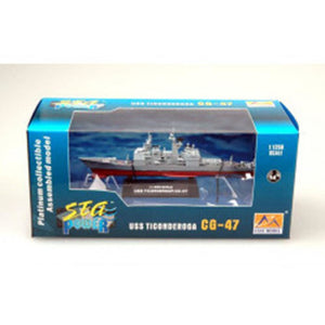 EASY MODEL 1/250 Warship - USS CG-47 Ticonderoga Cruiser Assembled Model (EAS-37401)