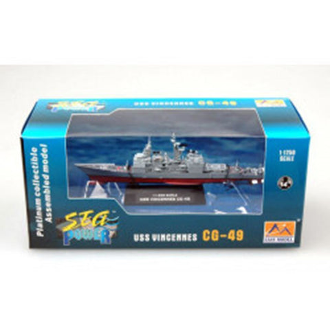 EASY MODEL 1/250 Warship - USS CG-49 Vincennes Cruiser Assembled Model (EAS-37402)