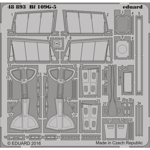 EDUARD Photo etched set for 1/48 Bf 109G-5