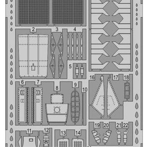 EDUARD Photo etched parts for AIRFIX P-51D exterior  1/48 (EDK48930 )