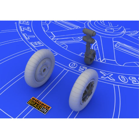 EDUARD Bf 109E wheels for  1/48 EDUARD (EDK648058)