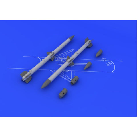 EDUARD AIM-120C AMRAAM (2pcs) for  1/48  (EDK648087)