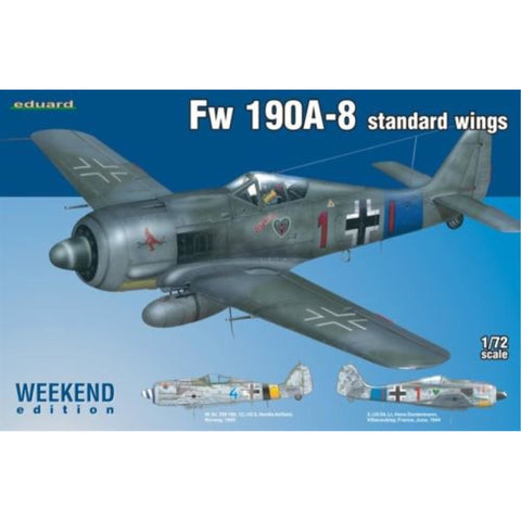 EDUARD Weekend Edition for 1/72 Fw 190A-8 Standard Wings