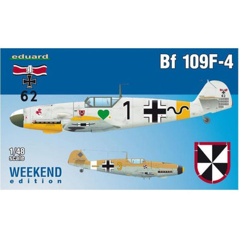 EDUARD 1/48 Messerschmitt Bf-109F-4 Weekend edition kit of