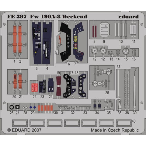 EDUARD Photo Etched Fw 190A-8 Weekend for  1/48 EDUARD (EDKFE397)