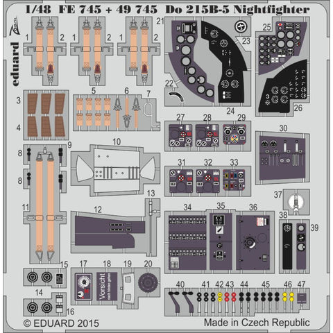 EDUARD Do 215B-5 Nightfighter for  1/48 ICM (EDKFE745) - Hearns Hobbies Melbourne - EDUARD