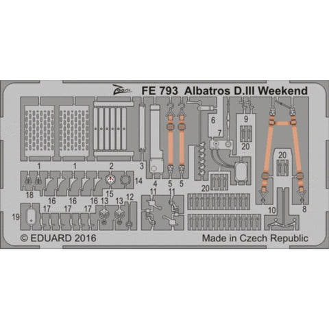 EDUARD Zoom set for 1/48 Albatros D.III  Weekend (FE793) - Hearns Hobbies Melbourne - EDUARD