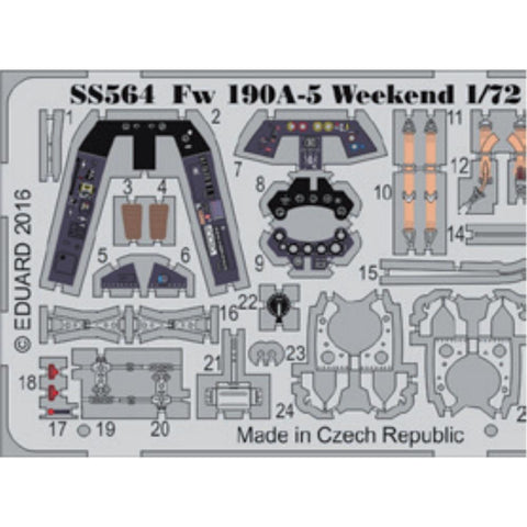 EDUARD Zoom set for 1/72 Fw 190A-5 Weekend (SS564) - Hearns Hobbies Melbourne - EDUARD