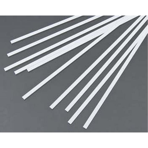 EVERGREEN 117 WHITE STYRENE STRIP .015 X .156