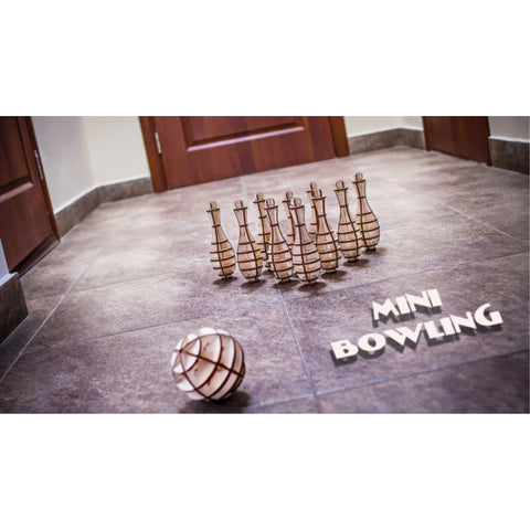 EWA MINI BOWLING Wooden Model Kit