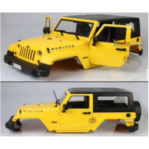EXO 4X4 Jeep rubicon body shell  yellow