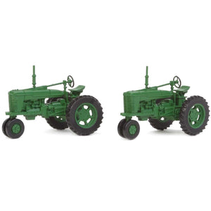 SCENEMASTER HO scale Farm Tractor Green x 2