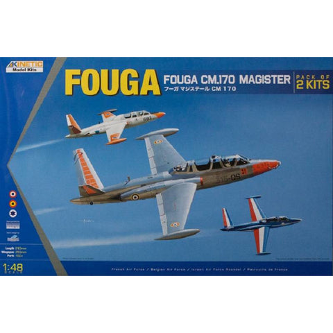 KINETIC 1/48 Fouga CM.170 Magister (2 kits)