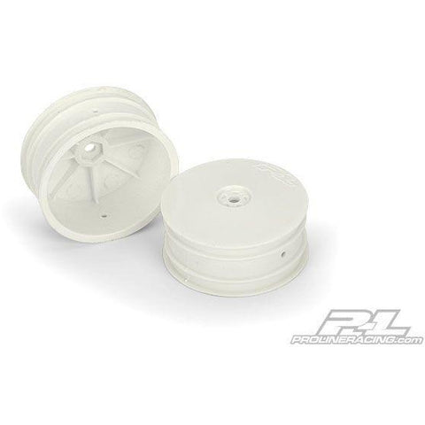 "Velocity 2.2"" Hex Front White Wheels (2) for RB5 and B4.1 with 12mm hex - Hearns Hobbies Melbourne - PROLINE"