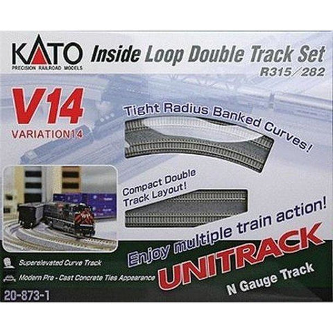 KATO N - Unitrack Inside Loop Double Track Set V14 Track Se