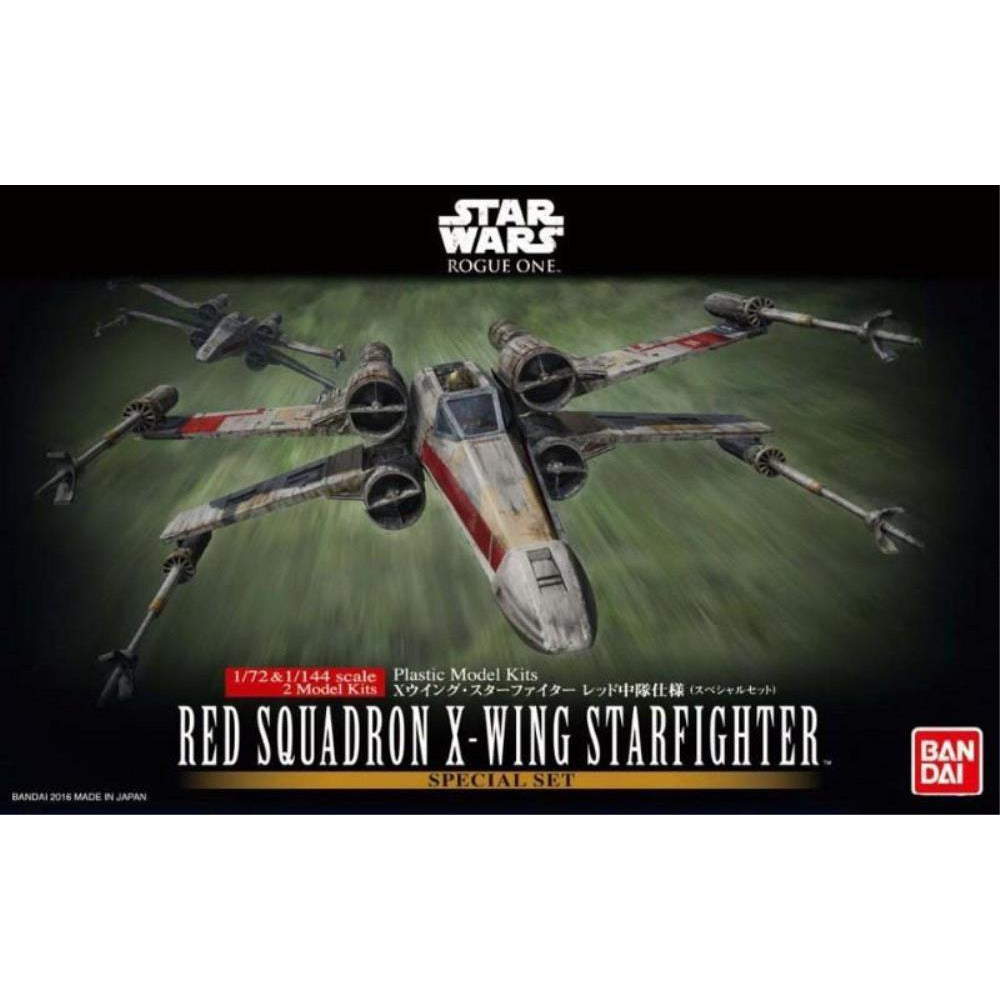 BANDAI  1/72 & 1/144 RED SQUADRON X-WING STARFIGHTER SPECIAL SET (G0210522)